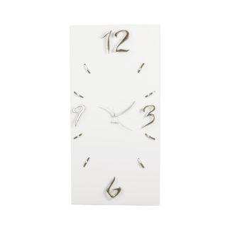 orologio rettangolare bianco matte