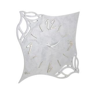 orologio traforato da parete colore argento