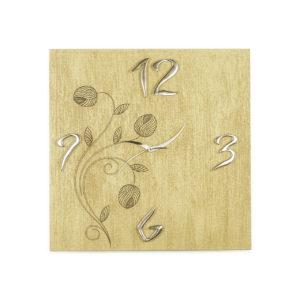 Orologio da parete oro flower con finitura spatolato