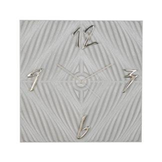 Orologio da parete pantografato ad onda alta e incrocio a rombo