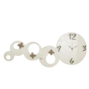 orologio da parete orizzontale cerchi perla antracite