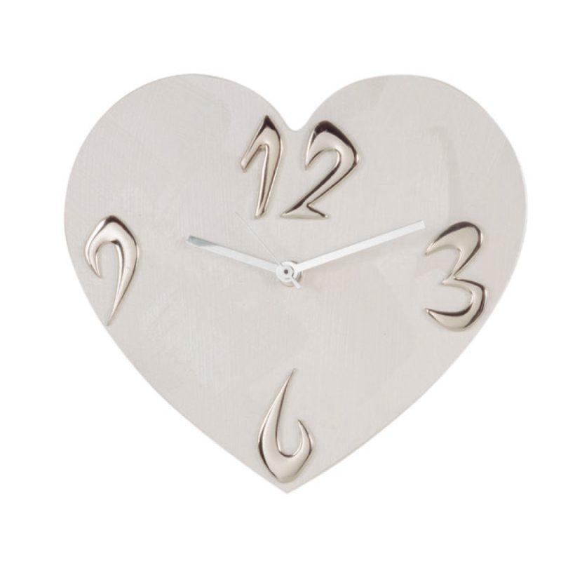 orologio da tavolo cuore - colore perla