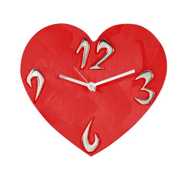 orologio da tavolo cuore rosso amore san valentino