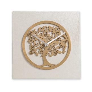 Orologio da tavolo - Albero della vita - Bianco e oro - Bomboniere