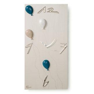 Orologio Palloncini con applicazioni in ceramica di Grottaglie (TA) – Finitura perla.