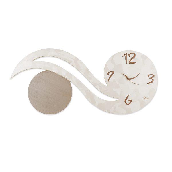 Orologio Virgola Orizzontale - Collezione Panto - Perla e tortora
